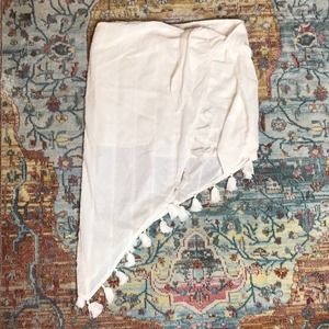 Mink Pink | NWT White Shady Sarong Skirt Size L